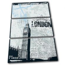 Grunge London Blue Illustration - 13-0066(00B)-TR32-PO